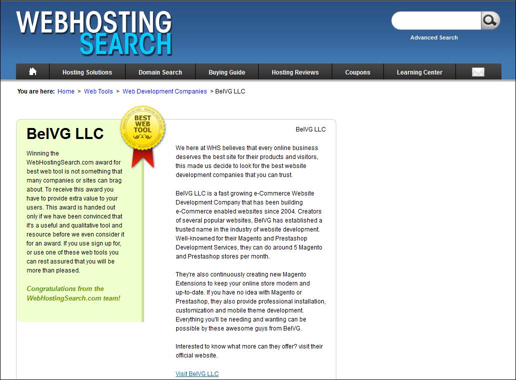 Best Web Tool 2012