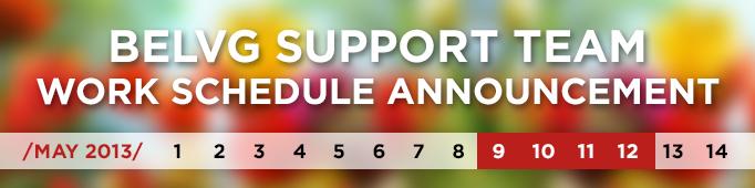 BelVG Support Team Work Schedule Announcement
