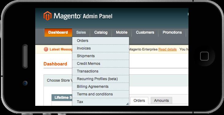 1Magento For Mobile Admins
