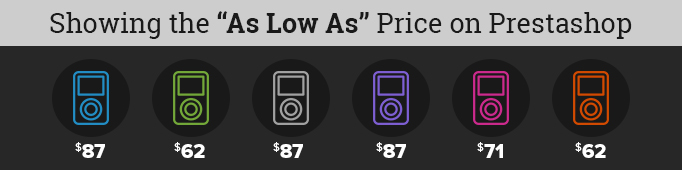 "Showing The ""As Low As"" Price On Prestashop"