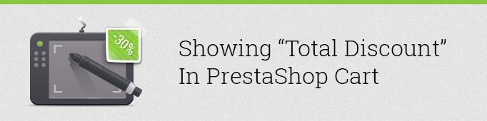 Showing Total Discount in Prestashop Cart