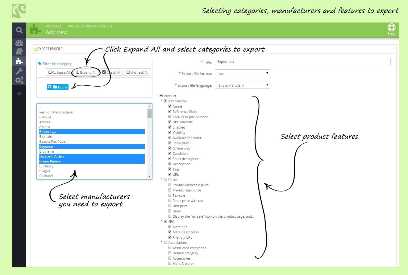 2Prestashop Ajax CSV Product Export