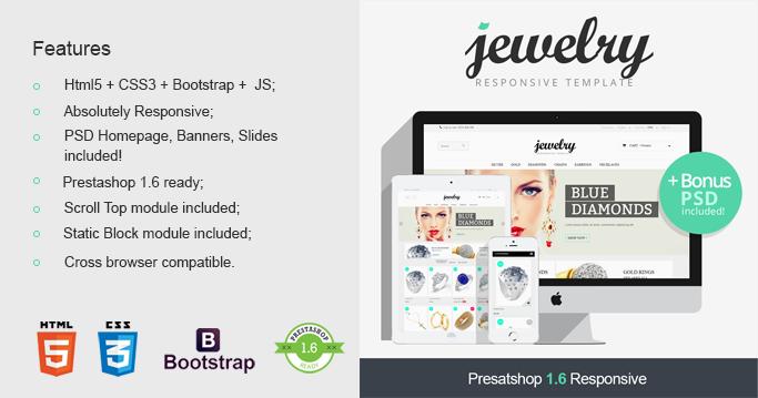 Jewelry Prestashop 1.6 Responsive Theme