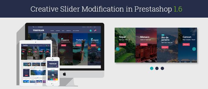 Creative Slider Modification in Prestashop 1.6