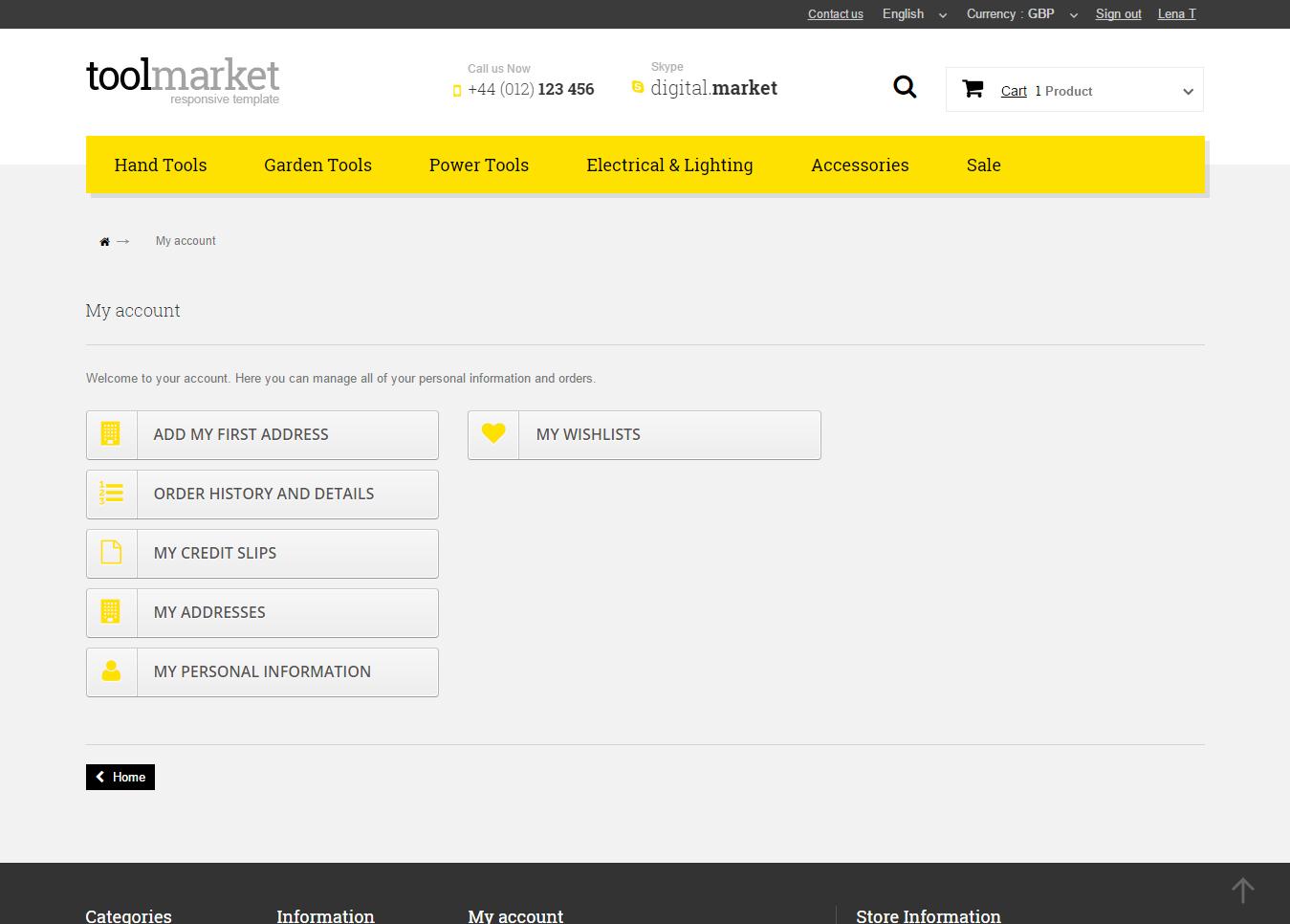9Tools Market Prestashop 1.6