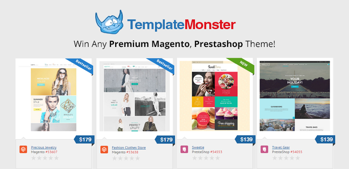 Win Any Premium PrestaShop / Magento Theme from the TemplateMonster Collection