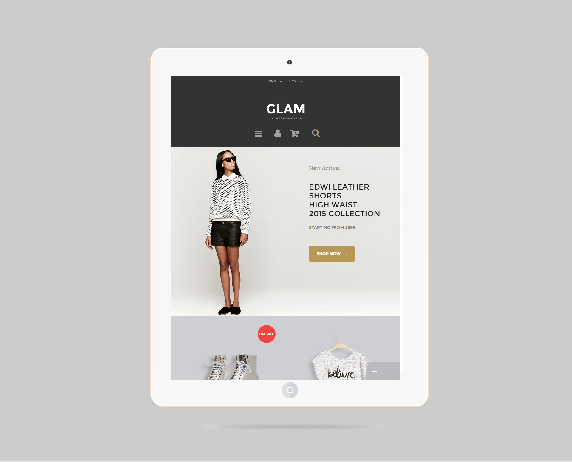 Glam Prestashop 1.6 Responsive Template