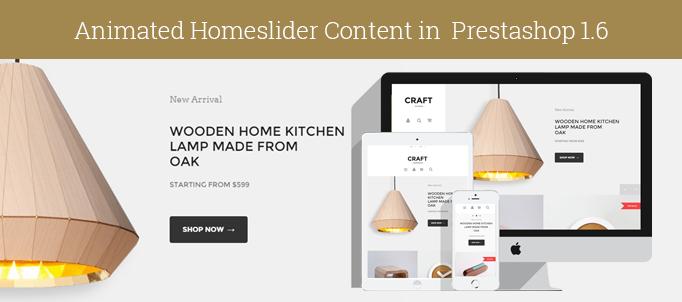 Animated Homeslider Content in Prestashop 1.6