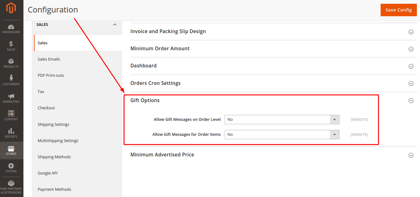 Gift Message Configuration in Magento 2.0