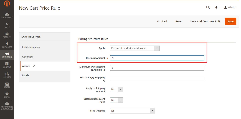 Promocode Discount in Magento 2.0
