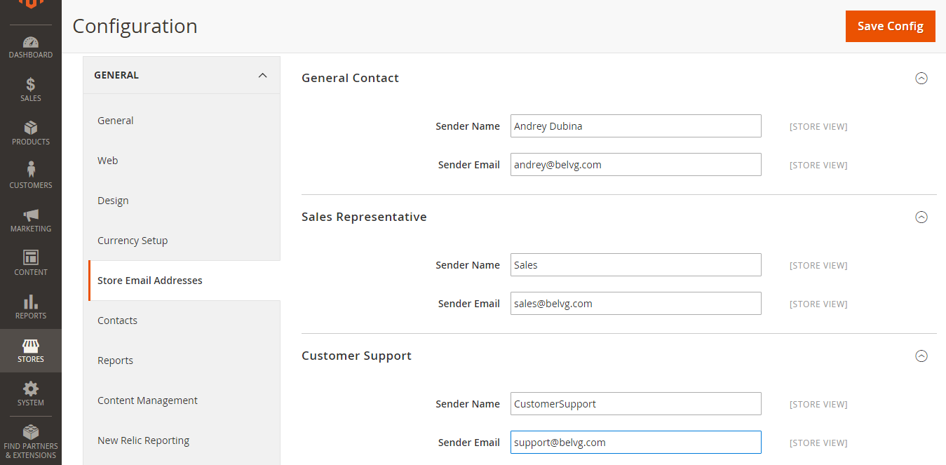 How to Configure Emails in Magento 2.0