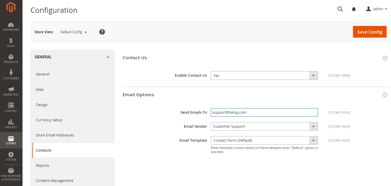 How to Configure Contact Us Page in Magento 2.0