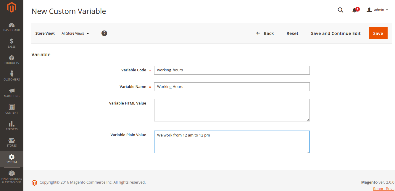 How to Add a Custom Variable in Magento 2