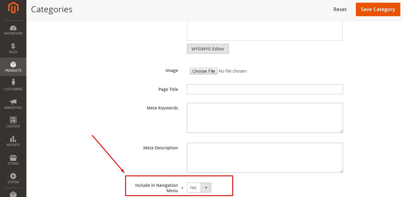 Create Hidden Categories in Magento 2.0