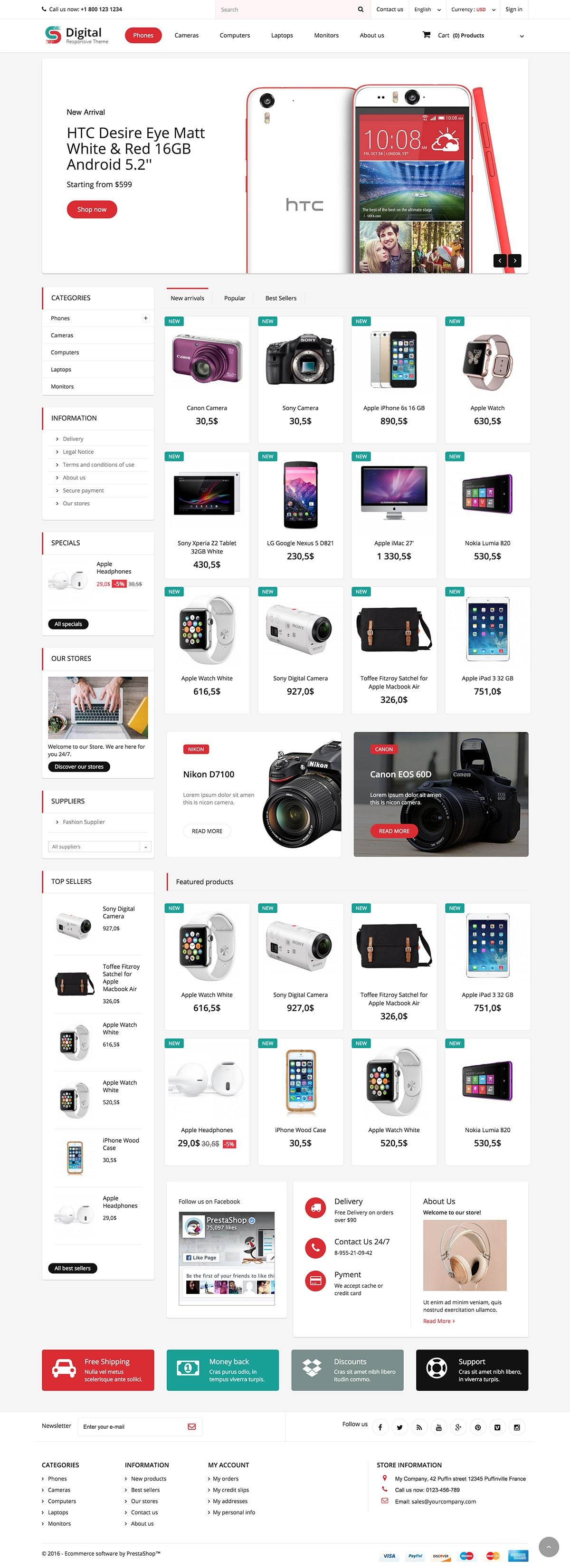Digital Store Responsive Prestashop 1.6 Theme
