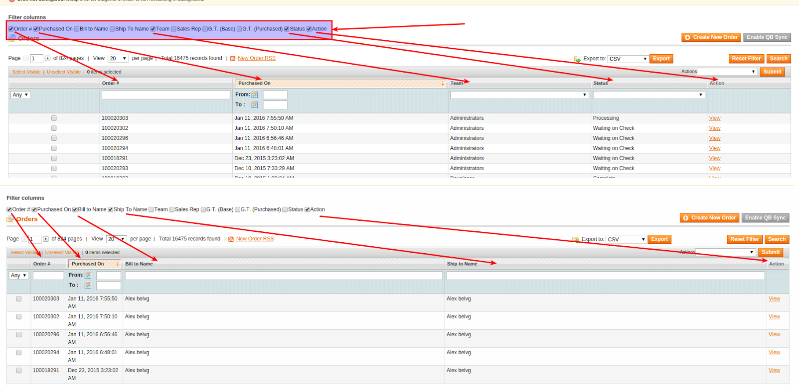 How to Manage Displaying of Sales Order Grid Columns in Magento