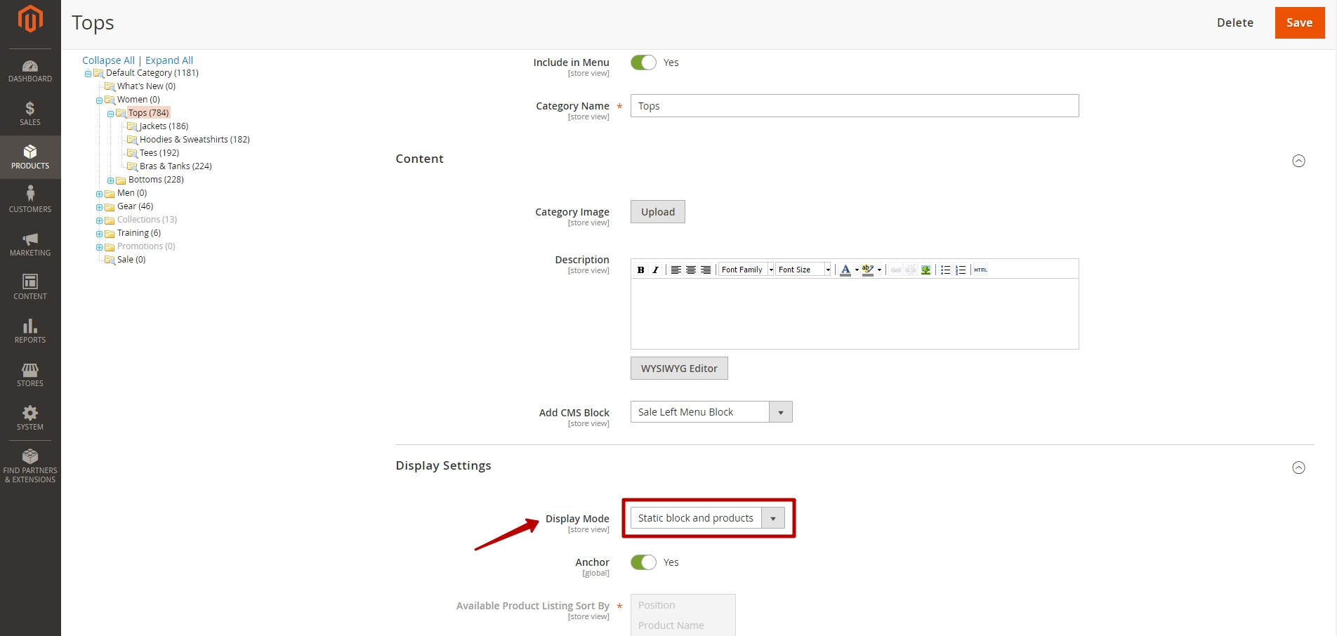 Adding a Static Block to a Category Page in Magento 2_3