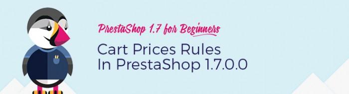 Cart Prices Rules in Prestashop 1.7