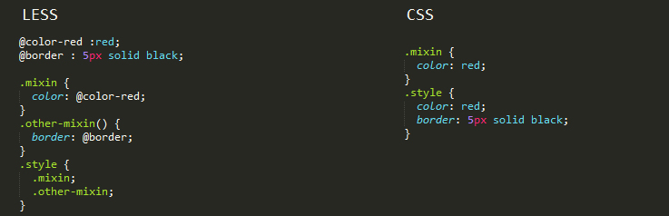 LESS is a CSS pre-processor