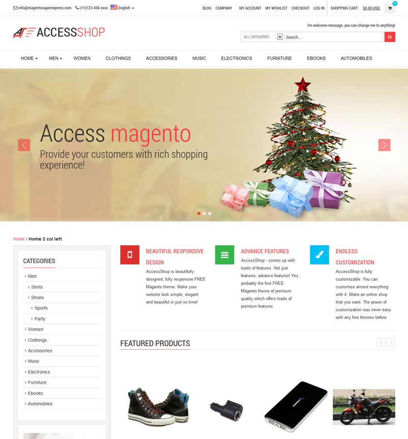 simple theme for Magento