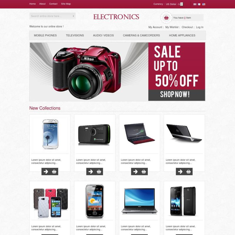 beautiful theme for web-site on Magento