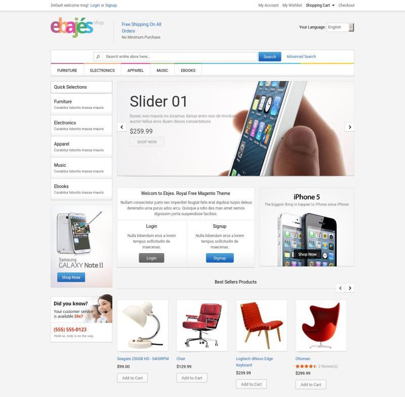 actual theme for Magento web-site