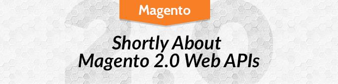 Shortly About Magento 2 0 Web APIs | BelVG Blog