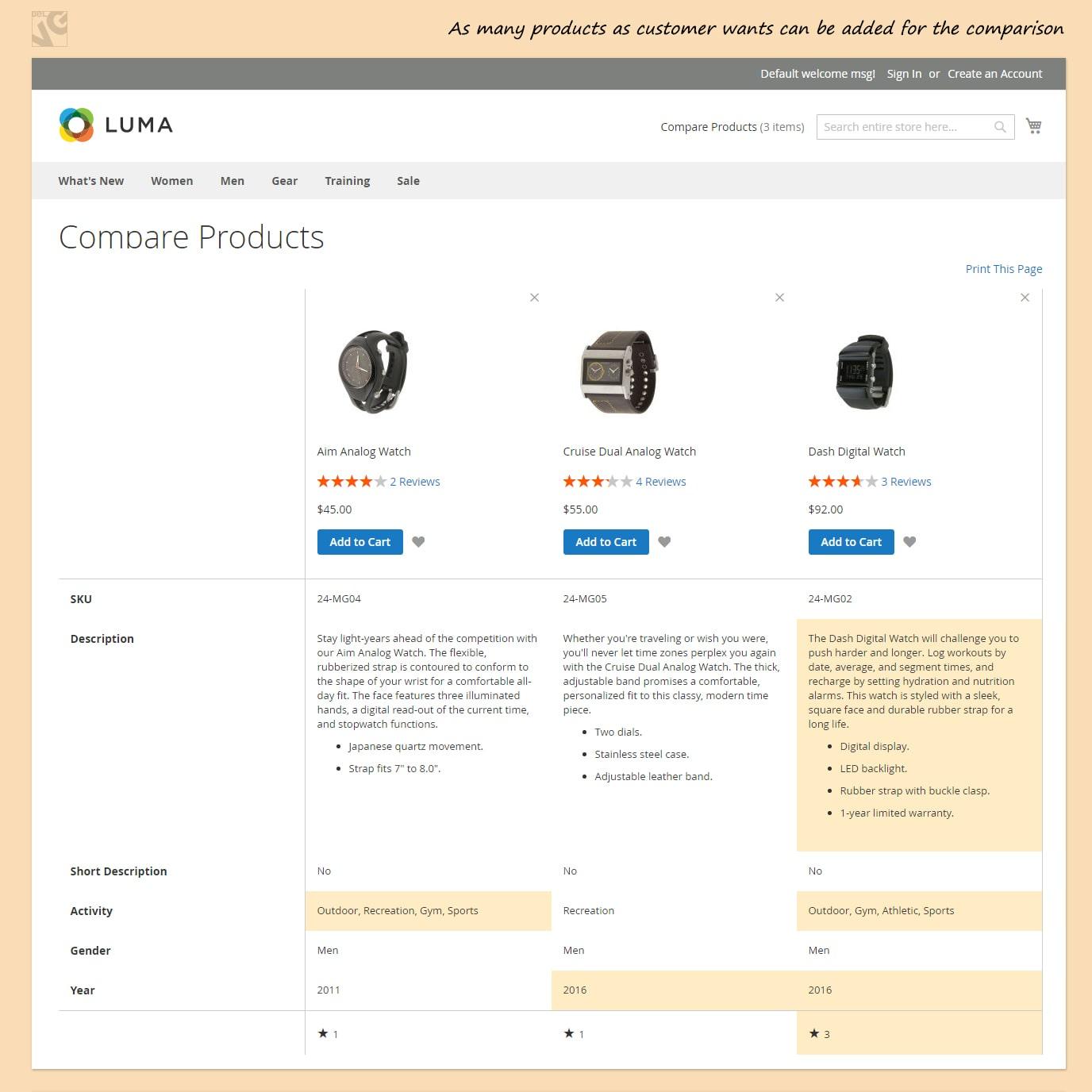 Big Day Release: Advanced Comparison for Magento 2.0