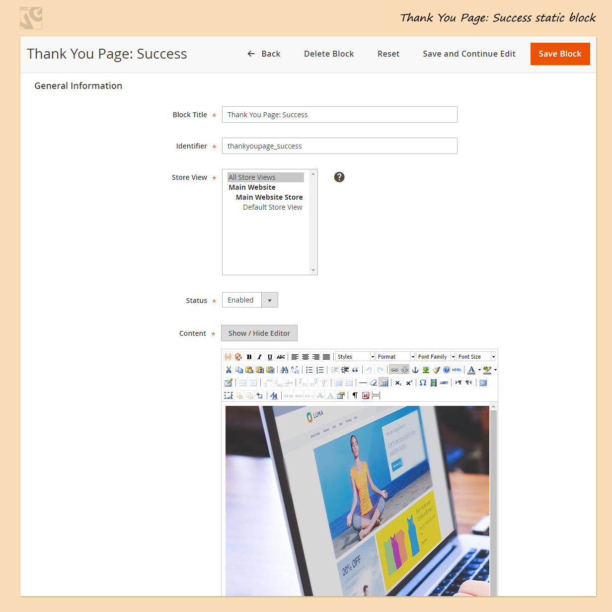 Thank You Page for Magento 2.0
