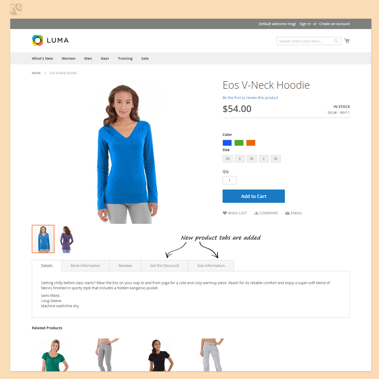 Simple Product Tabs for Magento 2.0