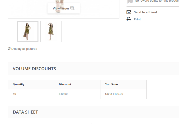 How to Add Product Combinations Involving the Use of Discount System on a Product Page in PrestaShop