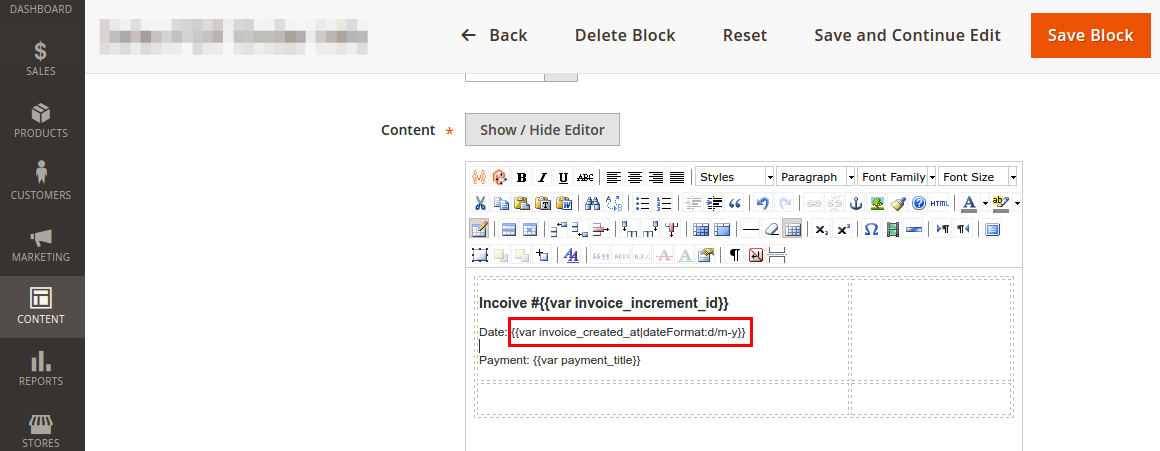 Custom Variables and Filters in Static Blocks in Magento 2