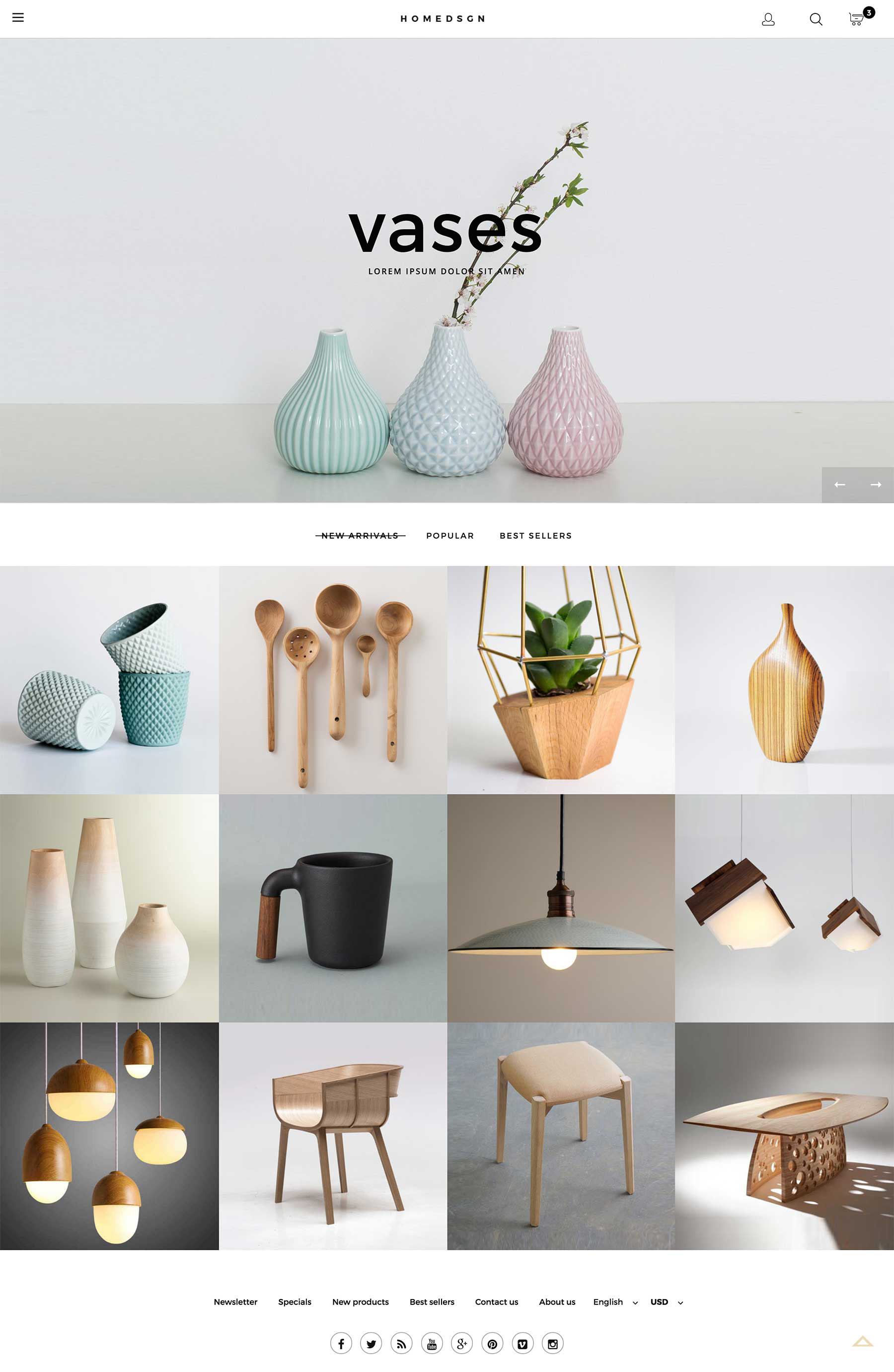 Home Design Responsive Theme for Magento 2