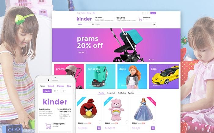 Baby Toys PrestaShop Theme