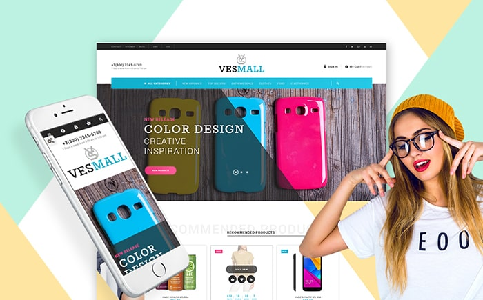 Vesmall - Wholesale store PrestaShop Theme