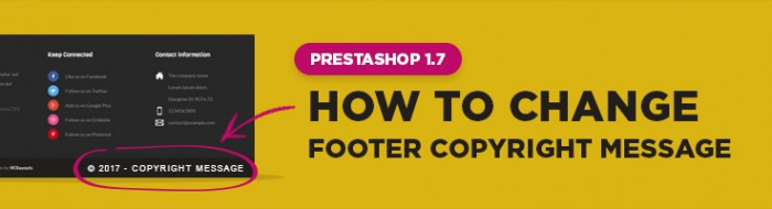 How To Change Footer Copyright Message in Prestashop 1.7