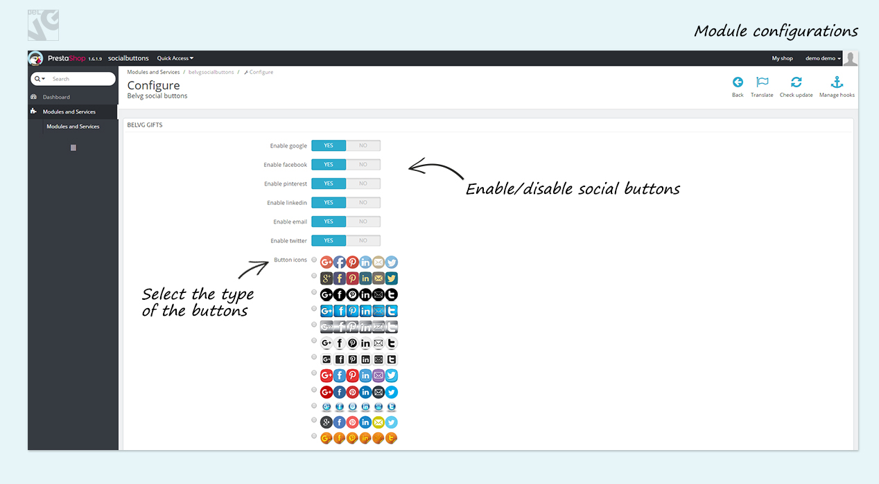 Big Day Release: Prestashop 1.6 Social Buttons