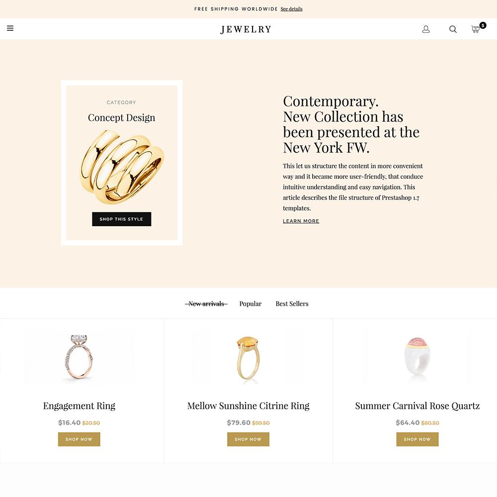 Luxury Jewelry Prestashop 1.6 Responsive Template