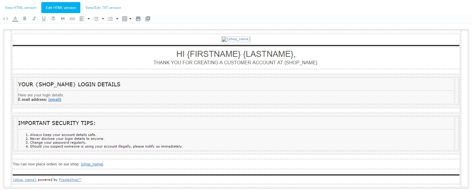 How to Edit Email Templates in Prestashop 1.7