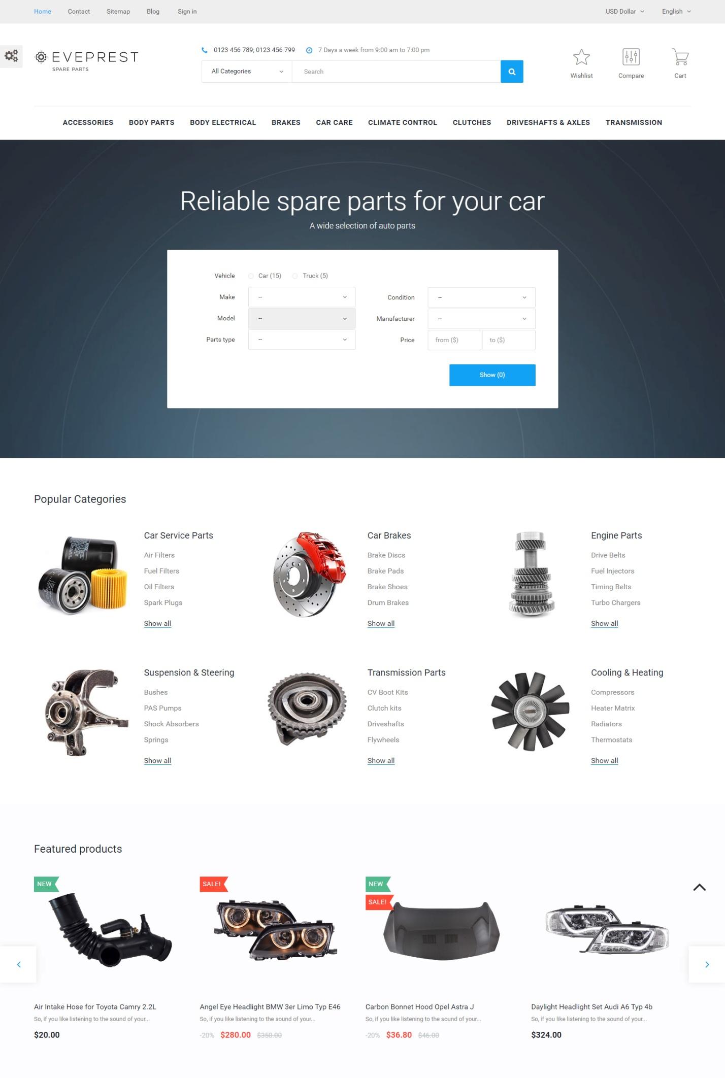 Eveprest – the best advanced Multipurpose PrestaShop Theme
