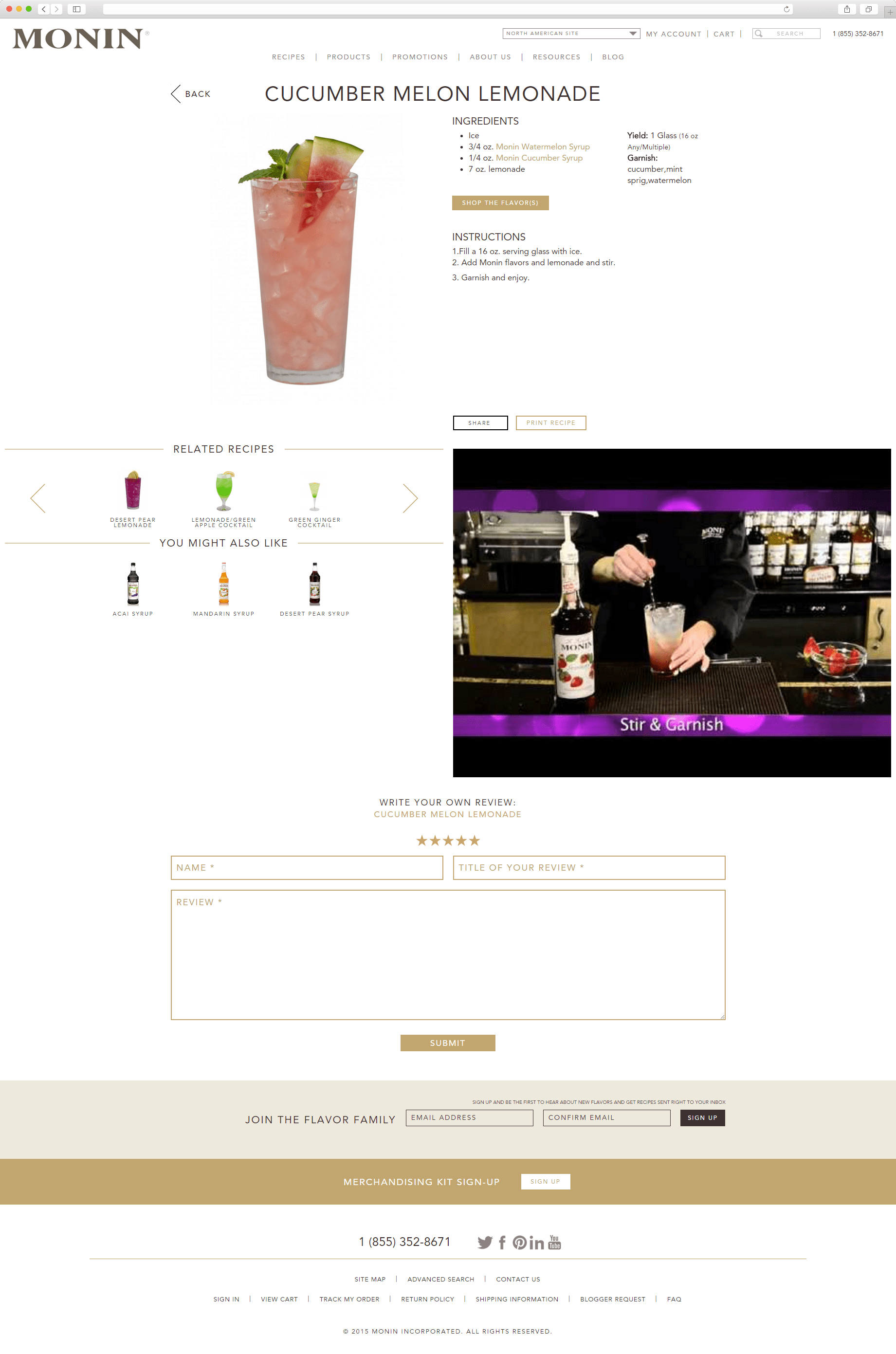 Our Works: Monin.com/m