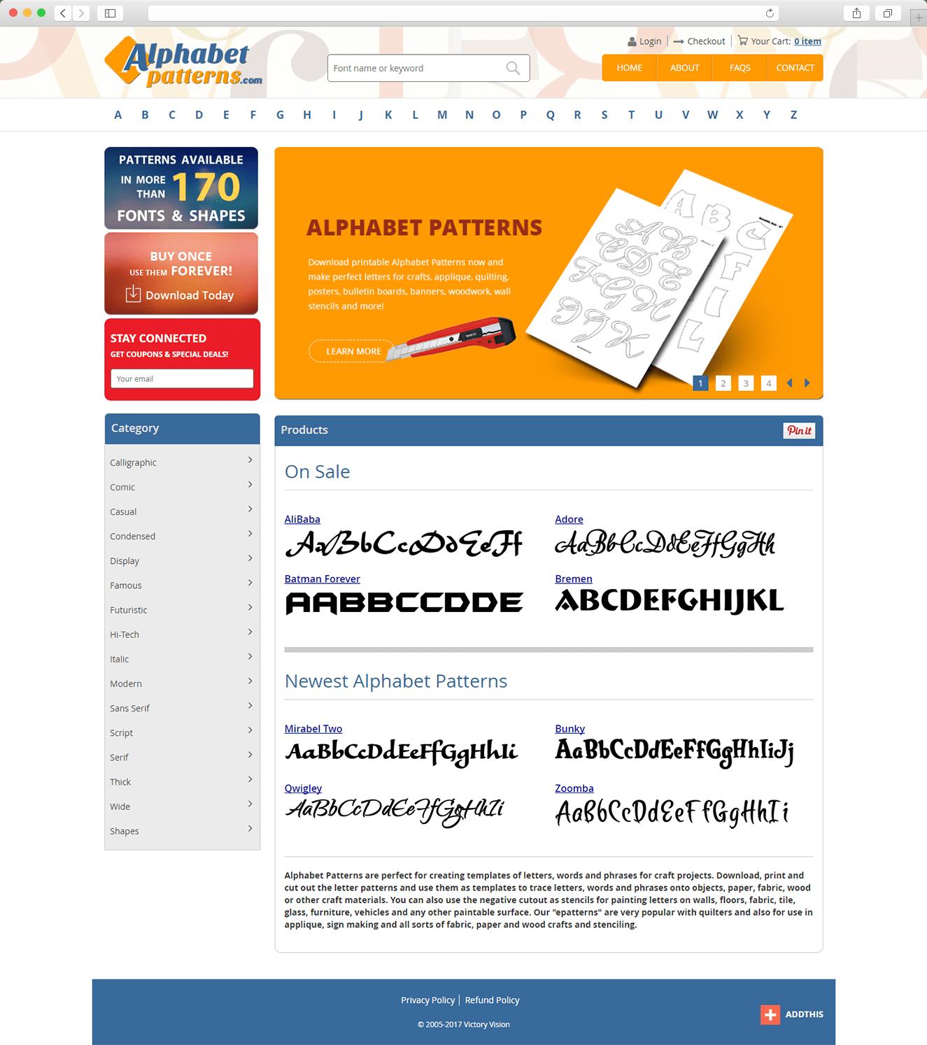 Our Works: Alphabetpatterns.com