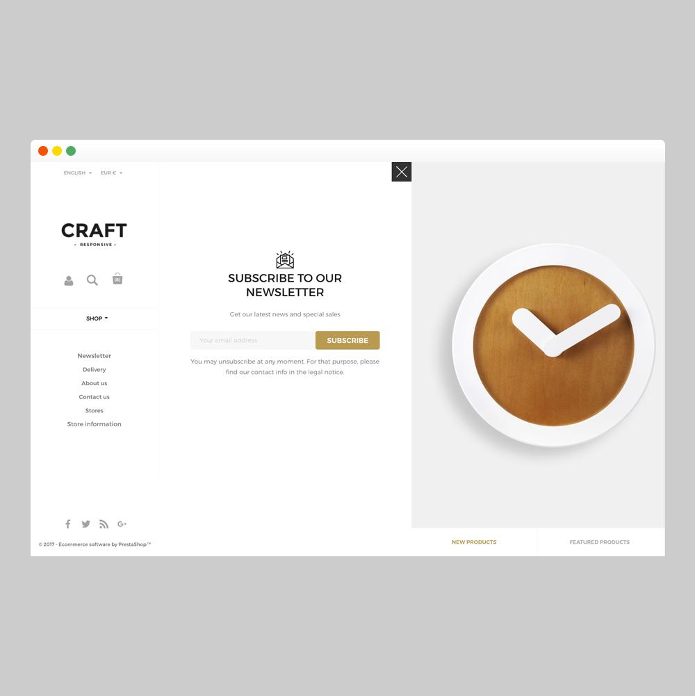 Craft Prestashop 1.7 Responsive Template