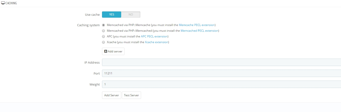 Prestashop 1.7 for Beginners Using Memcached