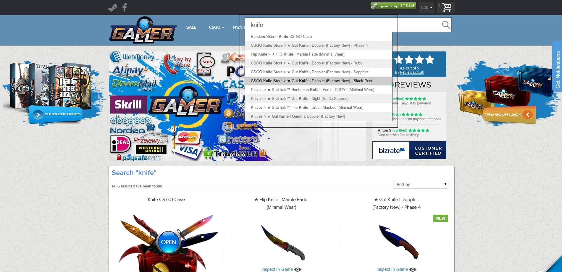 Our Prestashop Work: GamerAll.com