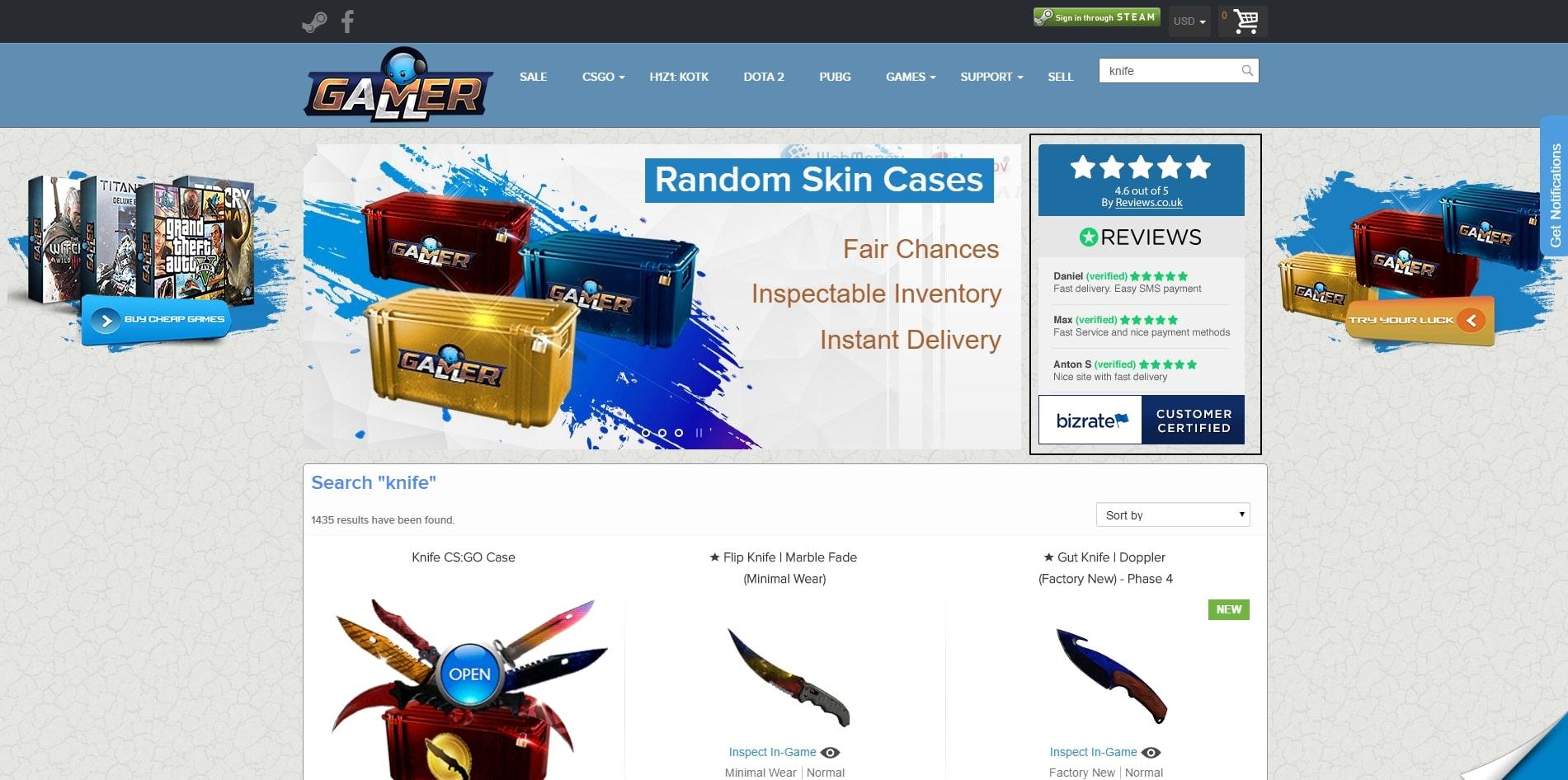 Our Prestashop Work: GamerAll.com