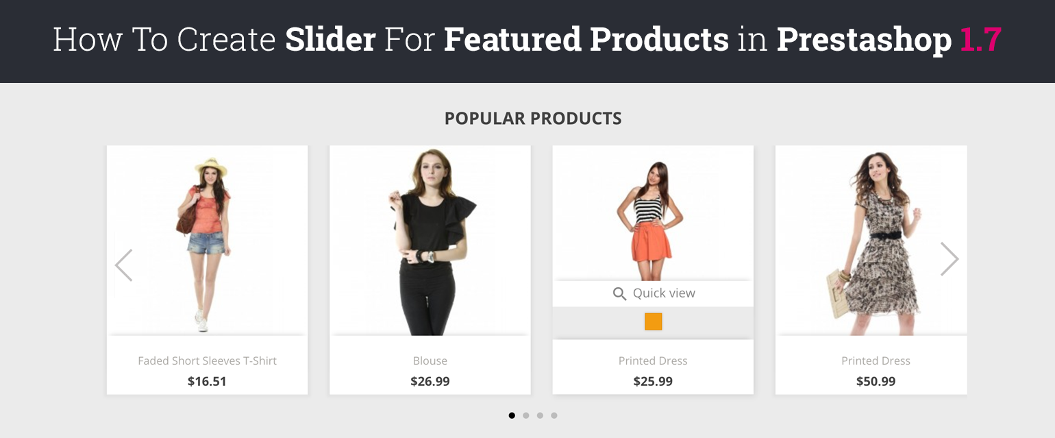How To Create Featured Products Slider in Prestashop 1.7