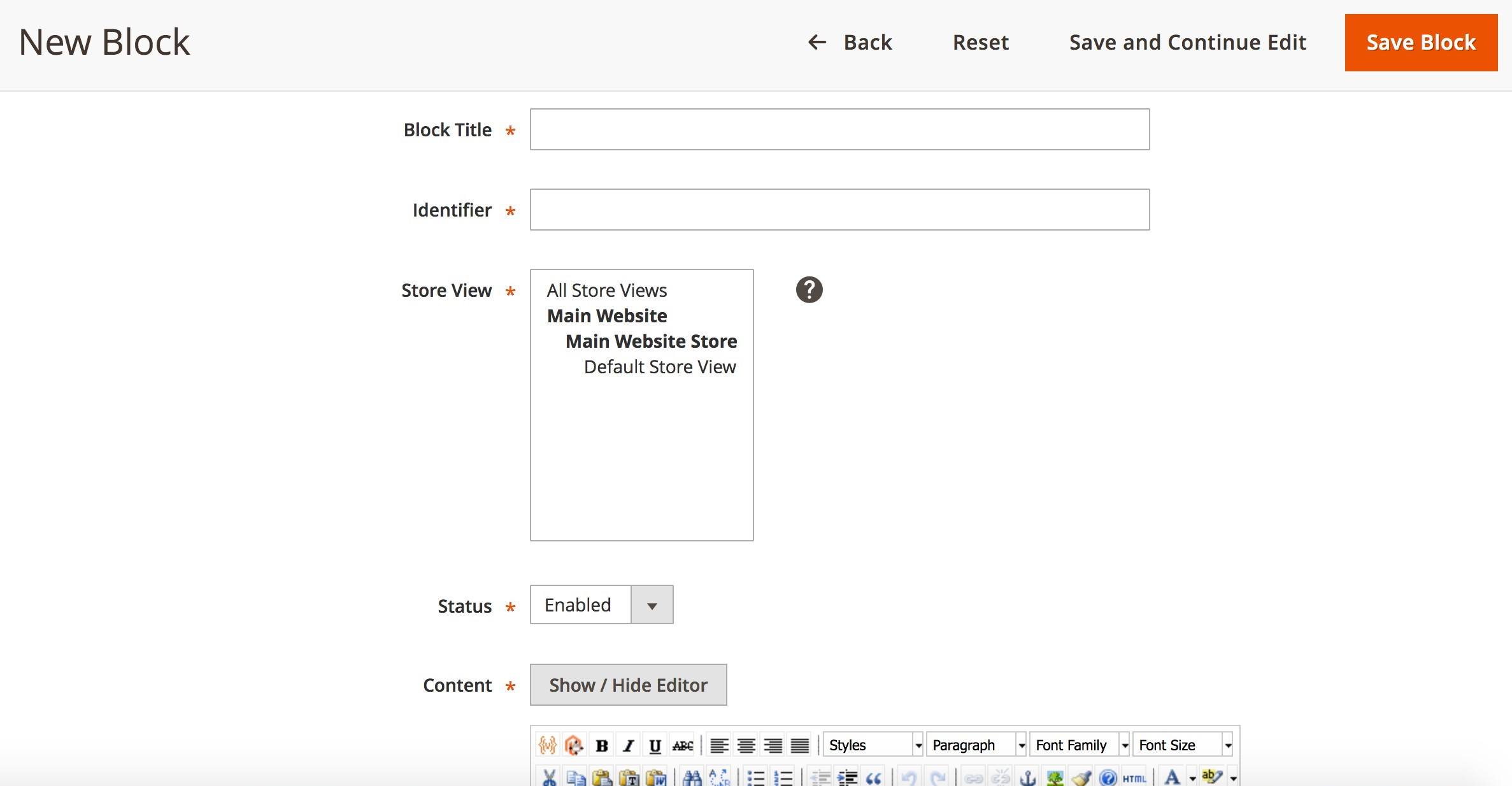 Using CMS Magento 2. Creating Blocks and Widgets_1