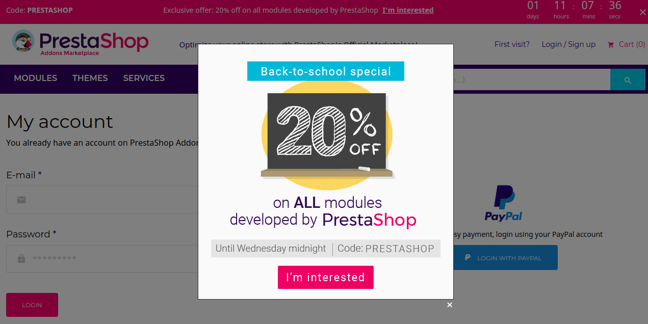 PrestaShop Pop-Up