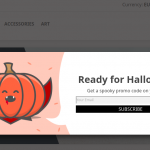 Halloween promo popup templates PrestaShop 1.7